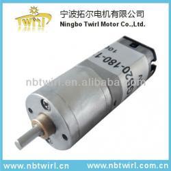 12V/24V TRGB20-180-12-110K hair curler/divider/roller/styler dc motor with 100rpm planetary gear motor