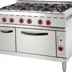 2013 Super Star Product 6-Burner Gas Range with Electric Oven