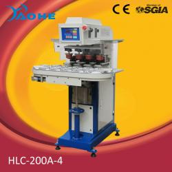 4 color sealed cup pad printing machine with conveyor