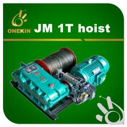 5.5KW power 250kg electric winch JM 1T wire rope 1 ton windlass lifting machine for sale