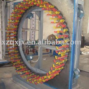 90 series high speed 120 spindle horizontal braiding machine