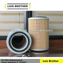 Air filter Cross reference C 15124 1