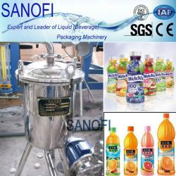Beverage machine-carbonated drink syrup filter