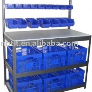 Bin Rack with Workbench