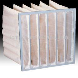 Breathable pocket air filter bag