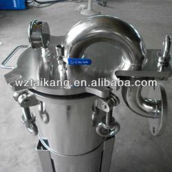 Chemical bag filter housing system