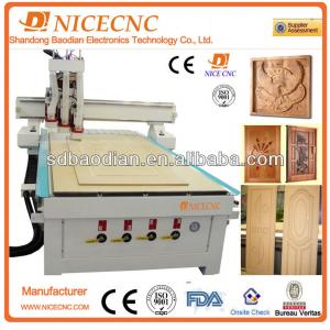 cnc router can changer tool by pneumatic 3 spindle
