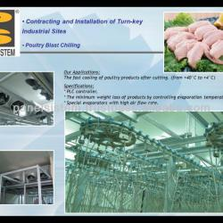 Cold Rooms and Deep Freezers for Poultry Blast Chilling