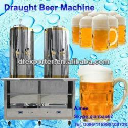 Colorful draft beers machine