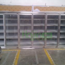 Convenient store glass door walk in display cooler commercial upright refrigerators