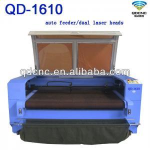 cotton/fabric cnc laser cutting machine/textile laser cutter QD-1610