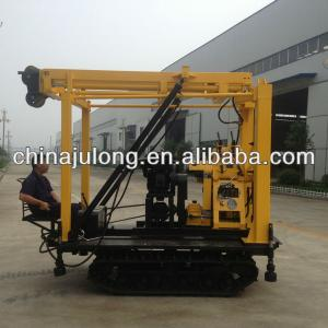 Crawler mounted portable water well hydraulic drilling rig