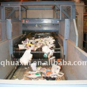 Cross-Belt Conveyor metal separation in recycling