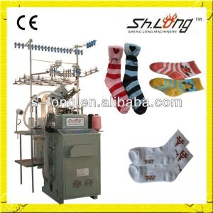 Dual feeder lines and dual colors socks knitting machines
