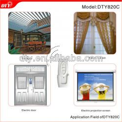 Dual tubular motor door wireless multi-channel remote control system