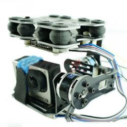 F05370 Carbon Fiber Brushless Mount PTZ Pan Tilt Kit Gimbal Damper For Gopro 1 2 3 Camera FPV Photography Quadcopter