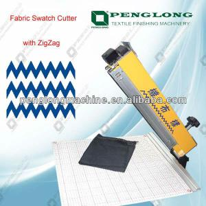 Fabric Swatch Cutter/Fabric Sample Cutting machine with zigzag