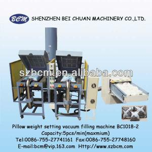 fiber can come to 4 coners of pillows filling machine BC1018-2