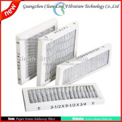 Foldaway plank air filter,pre air filter ,plank air filter
