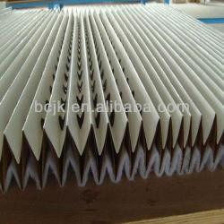 Folded dry type spray booth paper filter (manufacturers),air filter paper for spray booth air filter,Concertina filters(anti-fla