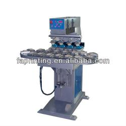 Four color Ink Cup Pad Printer with conveyor FA-P4/CK