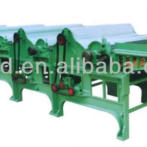 Four-Roller textile waste recycling machine line