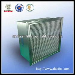 Galvanized frame hepa air filter with seperator