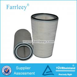 Gas turbine pleated air cartridge filters