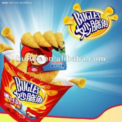 grain corn fried bugle snack production ling / 3D frying bugle snack making machine