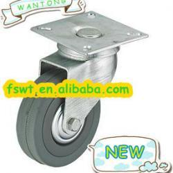 Gray Rubber Castor Wheel