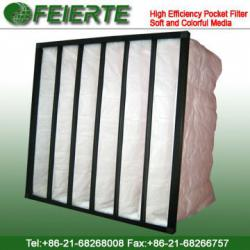 High Efficiency Pocket Filter Soft and Colorful Media