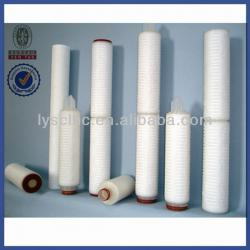 High quality polypropylene pleated filter cartridge