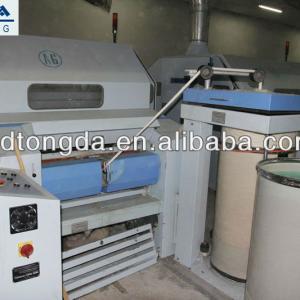 high speed cotton carding machine with chute feeder
