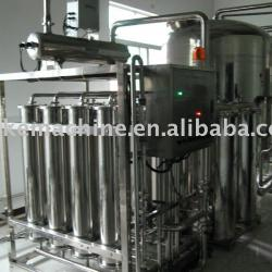 Hollow fiber super filter for mineral water treatment