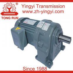 Horizontal AC electric helical gear motor