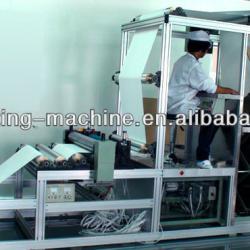 Hot sale glass fiber pleating machine,air panel filter machine