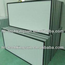 HVAC, Fiber glass media H13/14 Mini-pleat HEPA filter for cleanroom