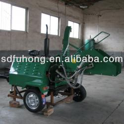 Hydraulic Feeding 50hp Diesel Engine Wood Chipper With CE Approved