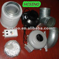 Hydroponic Kits - Carbon Filter, Inline Fan