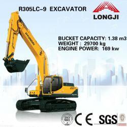 Hyundai R305LC-9 china hyundai excavator