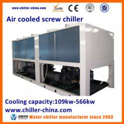 Industrial Air Cooled Screw Compressor Water Chiller 100KW
