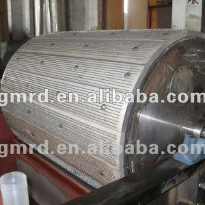 Iron Cylinder/roller with aluminum plate used on textile offcuts tearing machine