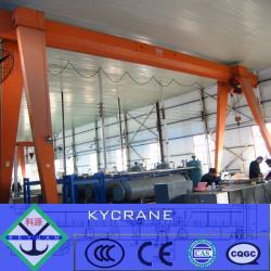 light duty electric hoist single girder workshop gantry crane 10ton