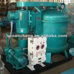 Low power consumption vacuum degasser for drilling fiuid