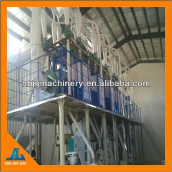Maize flour mill with degerminator