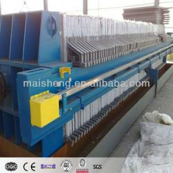 Manual/automatic Discharging Hydraulic Plate Frame Filter Press