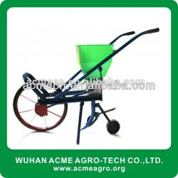 Mini Wheel agro Push Manual Grain Seeder machine