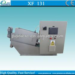Multi-disc screw press for wastewater treatment