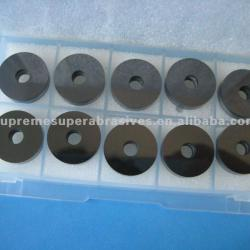 No chamfer with drilling hole round PCD tools, PCD Cutting Tool Blanks