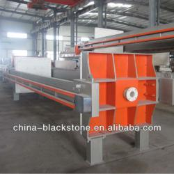 plc controlled filter press for waste water treatment
